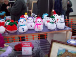 Louise's snowmen on display