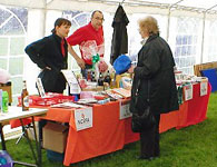 The NGVFA stall at a recent event